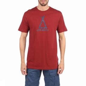 T-Shirt Live Simply Tent Life Cotton