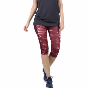 Adidas Broek Supernova 3-4 Tight Print Aubergine