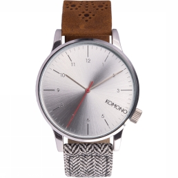 Komono Horloge silver coloured