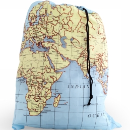 Gadget World Map Travel Size Laundry Bag