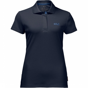 Jack Wolfskin Polo Three Towers Donkerblauw