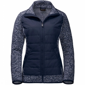 Jack Wolfskin Fleece Belleville Crossing voor dames Donkerblauw