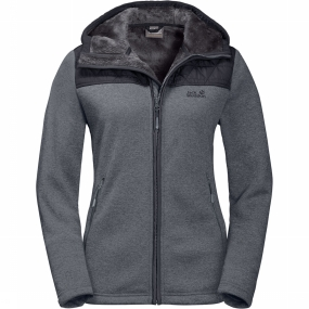 Jack Wolfskin Fleece Pacific Sky Jacket voor dames Grijs