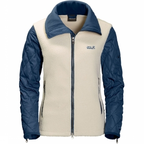 Jack Wolfskin Fleece Dawson Crossing voor dames Ecru