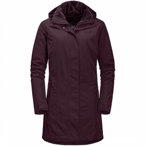 Jack Wolfskin Jas Madison Avenue Parka voor dames Bordeaux