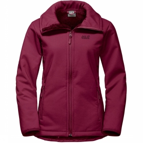 Jack Wolfskin Windstopper Rock Valley voor dames Donkerroze