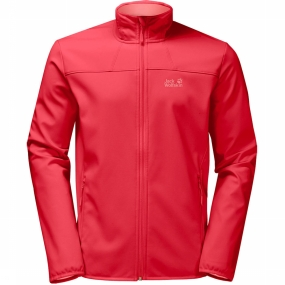 Jack Wolfskin Softshell Northern Pass voor dames Rood
