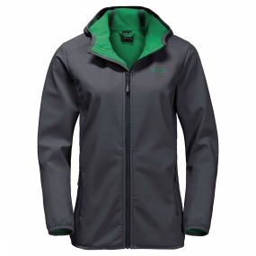 Jack Wolfskin Softshell Northern Point voor dames Donkergrijs