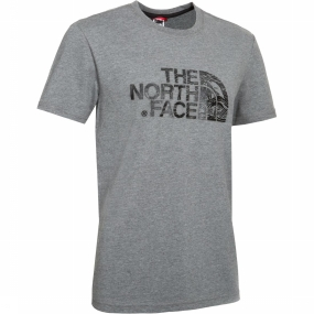 The North Face T-shirt Woodcut Dome Lichtgrijs