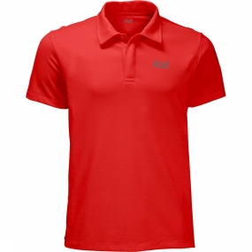 Jack Wolfskin Polo Three Towers Rood