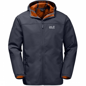 Jack Wolfskin Softshell Northern Point voor heren Donkergrijs