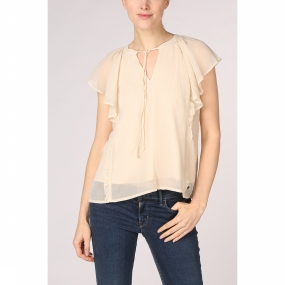 Kaporal Blouse Round With String voor dames – Wit