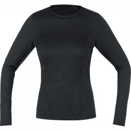 Gore Running Wear Top Essential Base Layer Lady Thermo Zwart