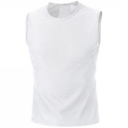 Gore Running Wear ESSENTIAL BASELAYER SINGLET Top white