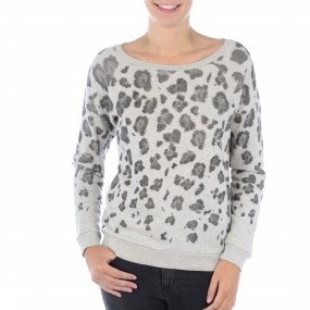 Trui Chine C Neck Leopard