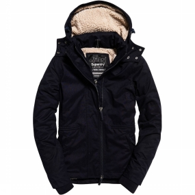 Superdry Jas Hooded Microfibre Boxy Snorkle Windparka voor dames - Donkerblauw