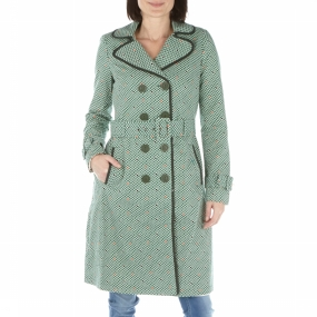 Jas Trench Coat Printed Cotton