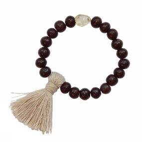 A Beautiful Story Armband Gypsy Citrine Rose Wood voor dames Roze