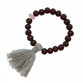 A Beautiful Story Armband Gypsy Rose Quartz Rose Wood voor dames Roze