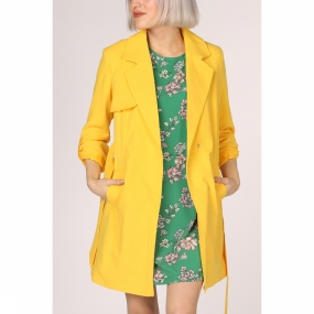 ONLY Jas Jane Drapy Coat Otw voor dames - Geel