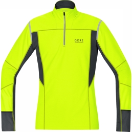 Gore Running Wear MYTHOS 2.0 THERMO Longsleeve neon yellow/black