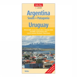 Argentina South / Patagonia / Uruguay nel. map