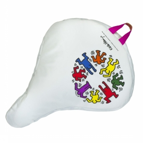 Saddle Cover Keith Haring People