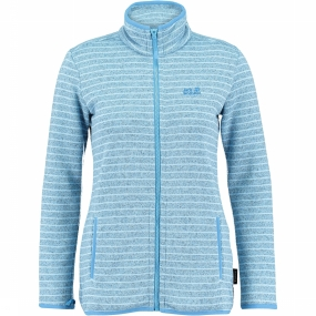 Caribou Striped Fleece Jas Dames
