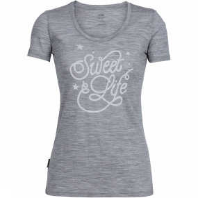 Tech Lite SS Scoop Sweet Life T-shirt Dames