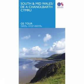 Topografische Kaart - Groot-Brittannië - UK - Wales South Wales Mid tour map