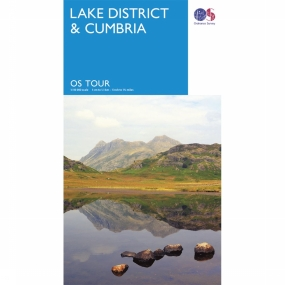 Topografische Kaart - Groot-Brittannië - UK - Lake District Cumbria tour map