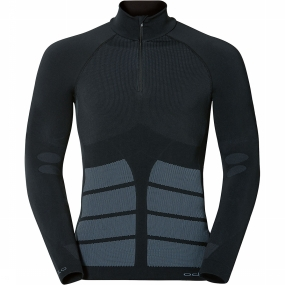 Odlo Men Shirt LS 1/2 Zip Evolution Warm Black (L)