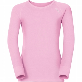 Odlo Shirt LS Crew Neck Warm Kids Winterrose (152)