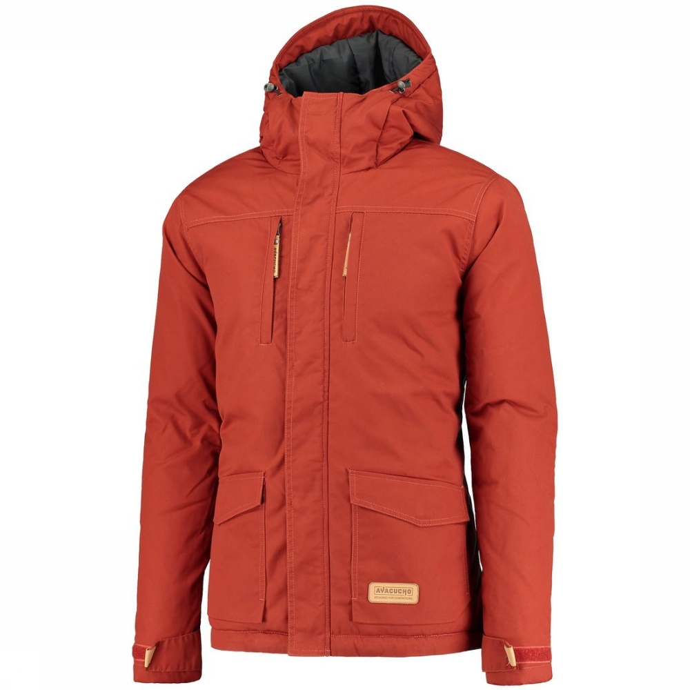 Ayacucho Manteau Highland Padded pour homme - Rouge