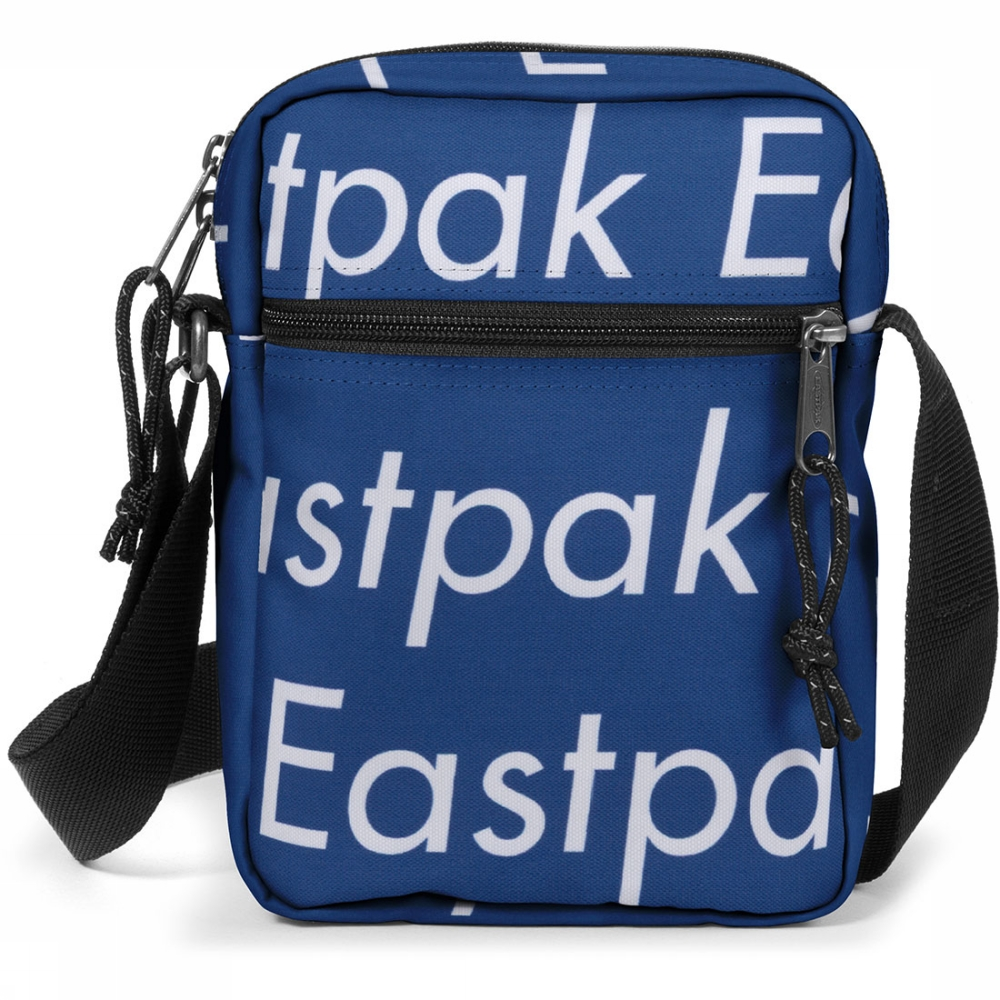 Eastpak The One crossbodytas blauw en wit
